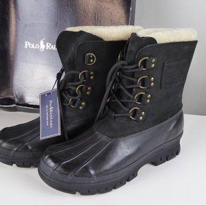 Polo Ralph Lauren Landen Snow Boots Leather Rubber